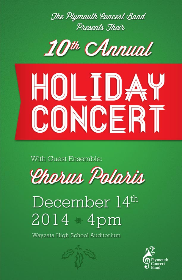 10th Annual Holiday Concert Program Cover