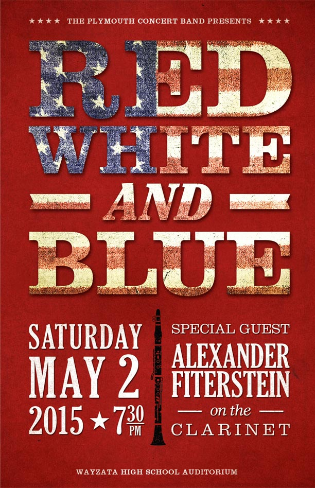 Red, White, & Blue Program Cover