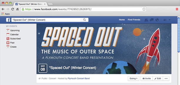 Spaced Out Facebook Page